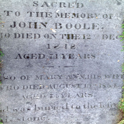 Death of Boole's father