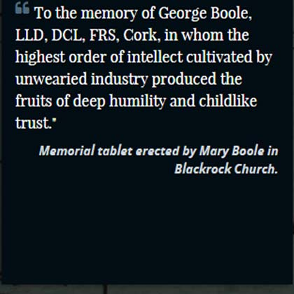 Death of George Boole